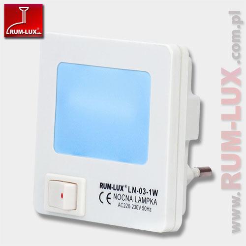 mini lampka LN-03 KWADRAT [niebieska]